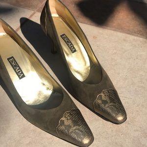 Escada  Elegant High Heel Leather Suede size 9